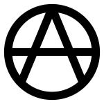 """Anarchistischer Weg: A im Kreis (""""Anarchie-A"""", Ⓐ)"""